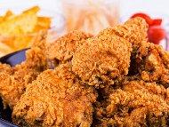 Рецепта Пилешки бутчета с чипс панировка и сирене пармезан на фурна